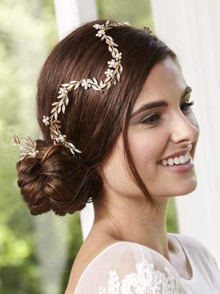 LP710 – leaf, pearl & diamante hair vine with 3 matching hair pins