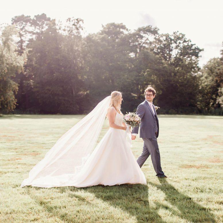 Grace veil on real bride Lara