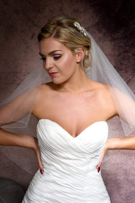 two layer hip length bridal