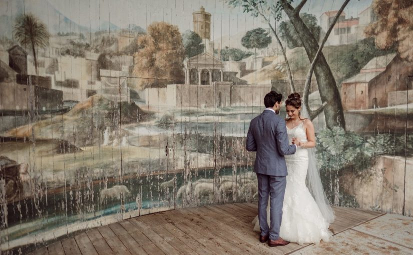 Natasha Rocks Her Wedding in our Isabella wired edge veil