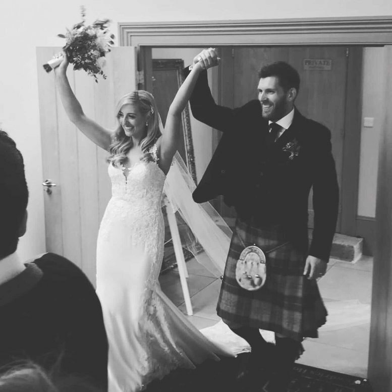 "Real Bride wearing our ""Nikki"" veil"
