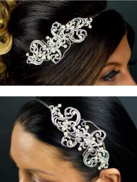 TLT4513 – pearl, diamante & beaded side headband