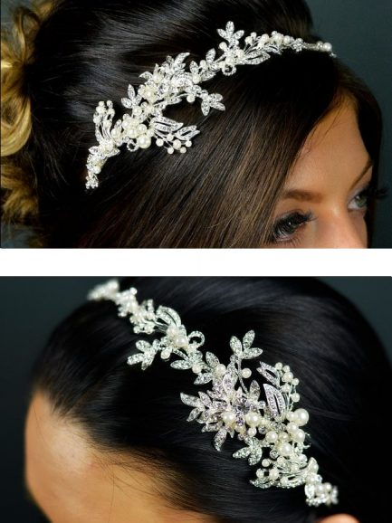 TLT4518 – pearl & diamante side headband