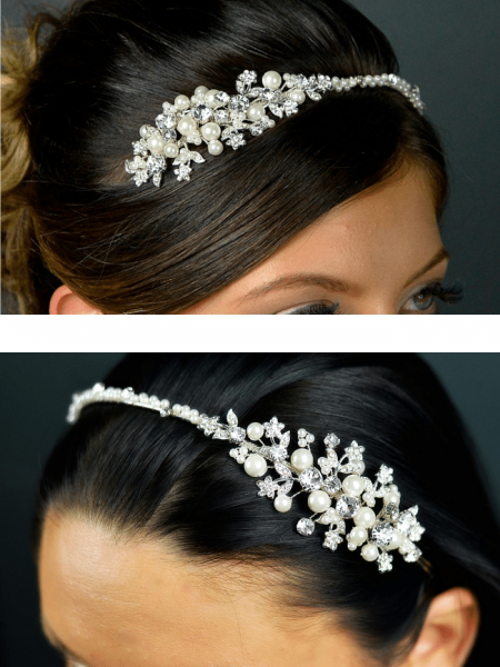 TLT4533 – pearl & diamante side headband