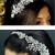 TLT4575 – crystal & diamante side headband with metal leaves