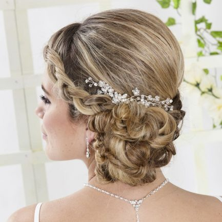 AR550 – diamante & crystal bridal hair comb