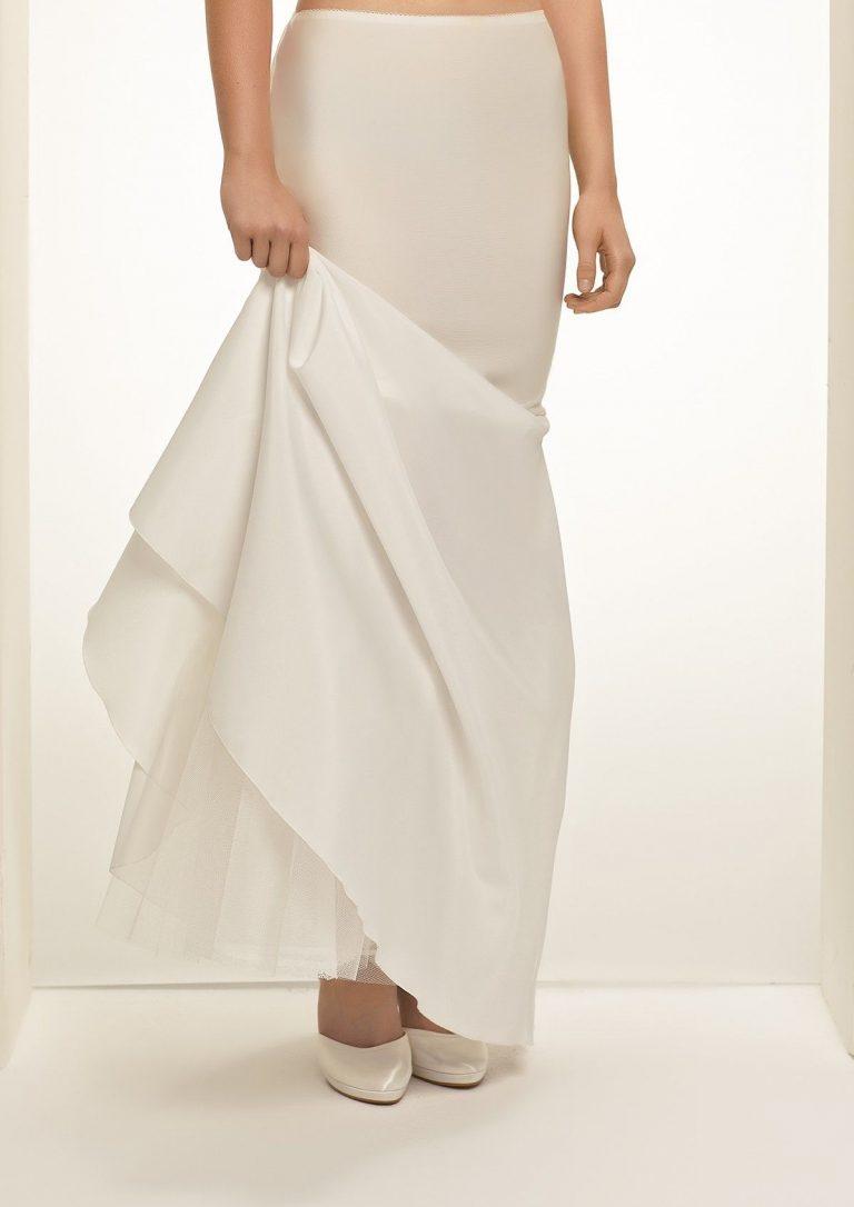 Mermaid bridal underskirt with no hoops