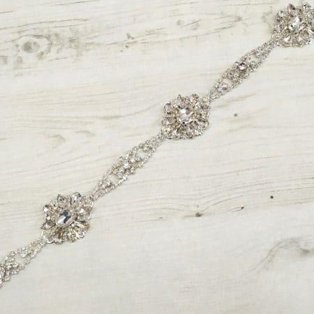 LBE367 diamante bridal belt