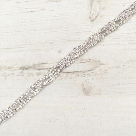 LBE85 diamante bridal belt