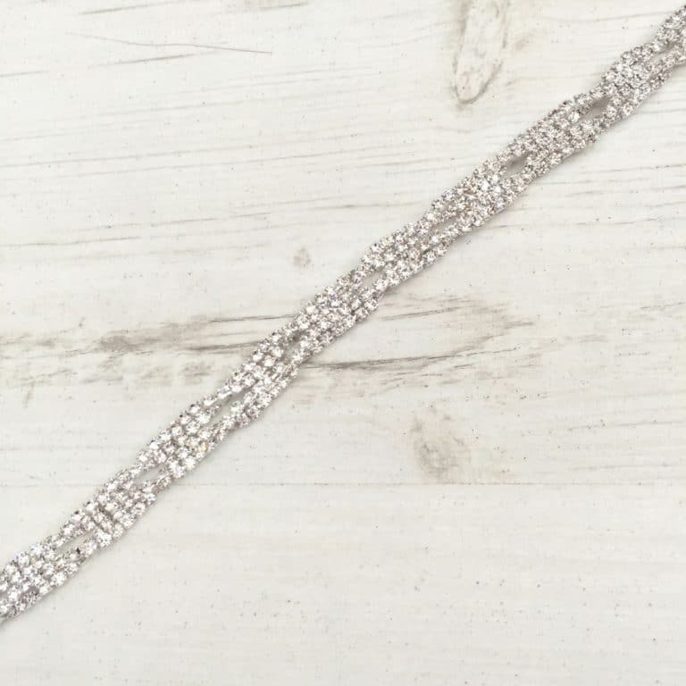 LBE85 diamante bridal belt
