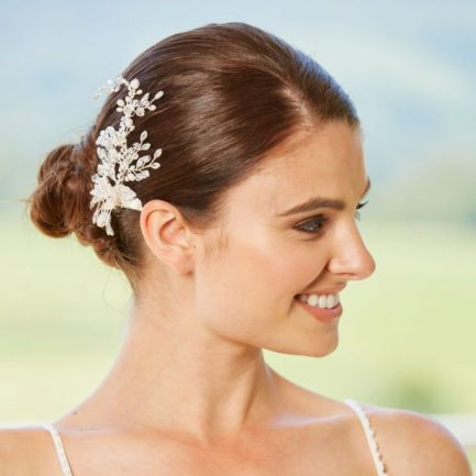 LP720 – crystal, pearl & diamante bridal hair clip