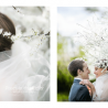 Katherine is pretty as a picture in her bespoke chapel length veil