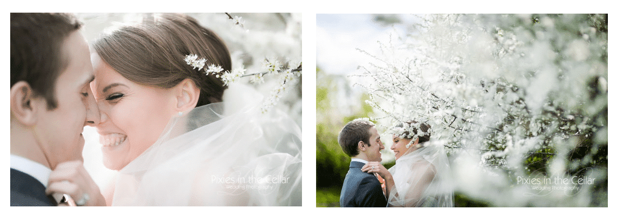 Bespoke chapel length veil on Real Bride Katherine