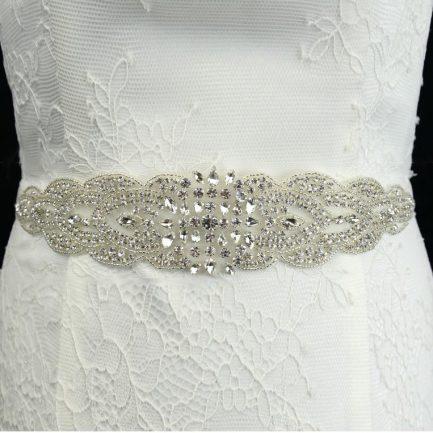 TLBB1024 – diamante & seed bead bridal belt