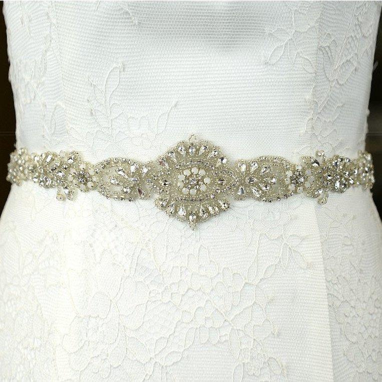TLBB1026 beaded bridal belt
