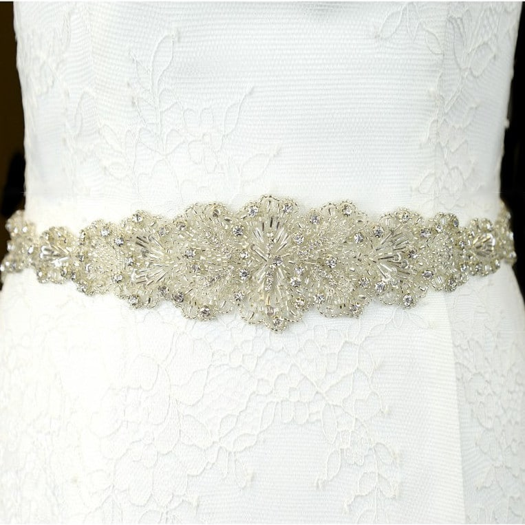 TLBB1029 lace aplique bridal belt