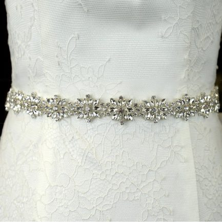 TLBB1032 – sparkly bridal belt with navette diamantes