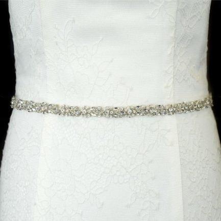 TLBB1040 – narrow diamante bridal belt