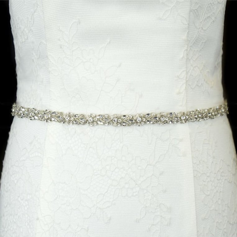 LBB1040 diamante bridal belt