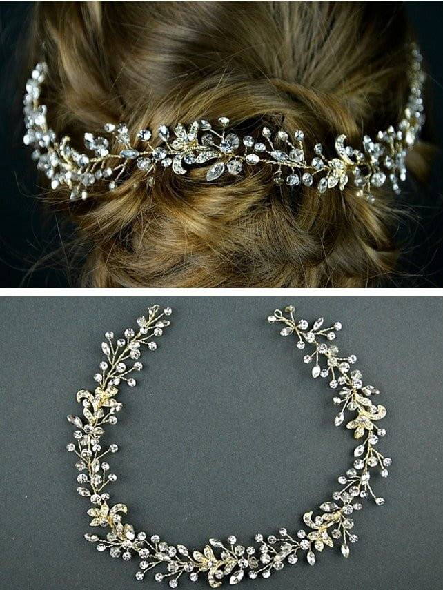 tlh3076 bridal hair vine