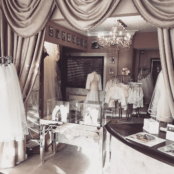 Inside shot of Taylors Bridal Accessory boutique