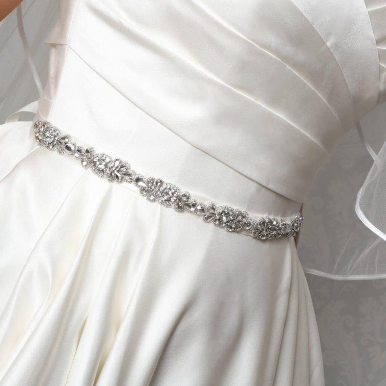 PBB1001 bridal belt with diamantes