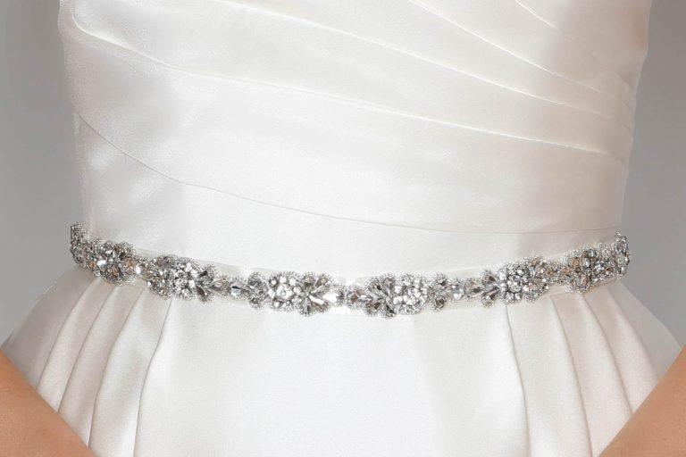 PBB1001 bridal belt with diamantes closeup
