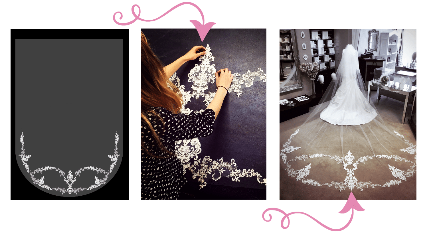 Rohanna Whittle custom lace veil process