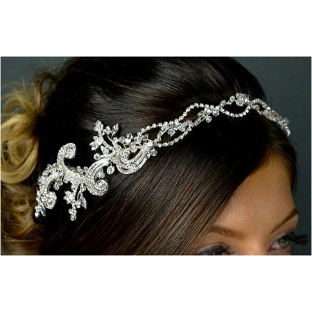 SALE! TLT4670 – vintage style flexible diamante side headband