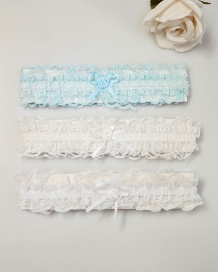 SG103 – Simple stretch lace garter in white, ivory or blue