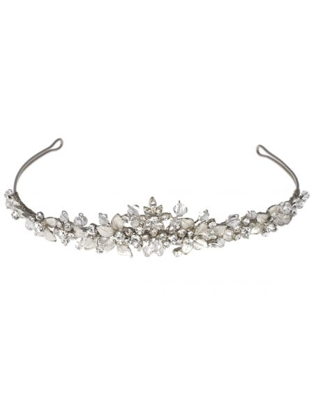 lt572 wedding tiara silver
