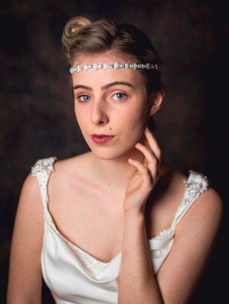 Coco – beautiful elasticated diamante hair chain headband