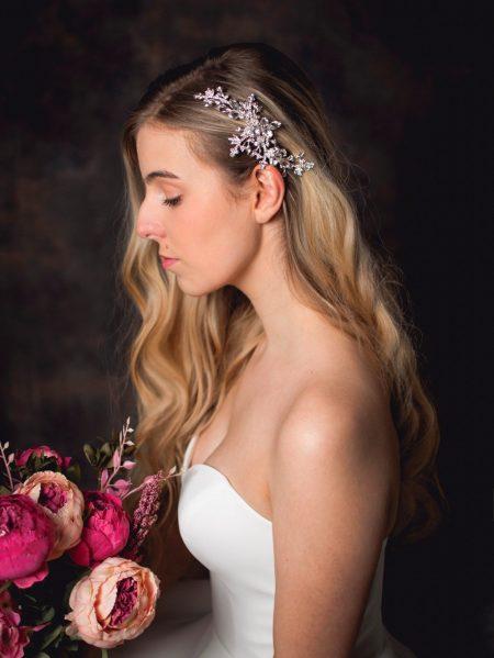 Cosette – classic diamante bridal hair clip with large diamantes