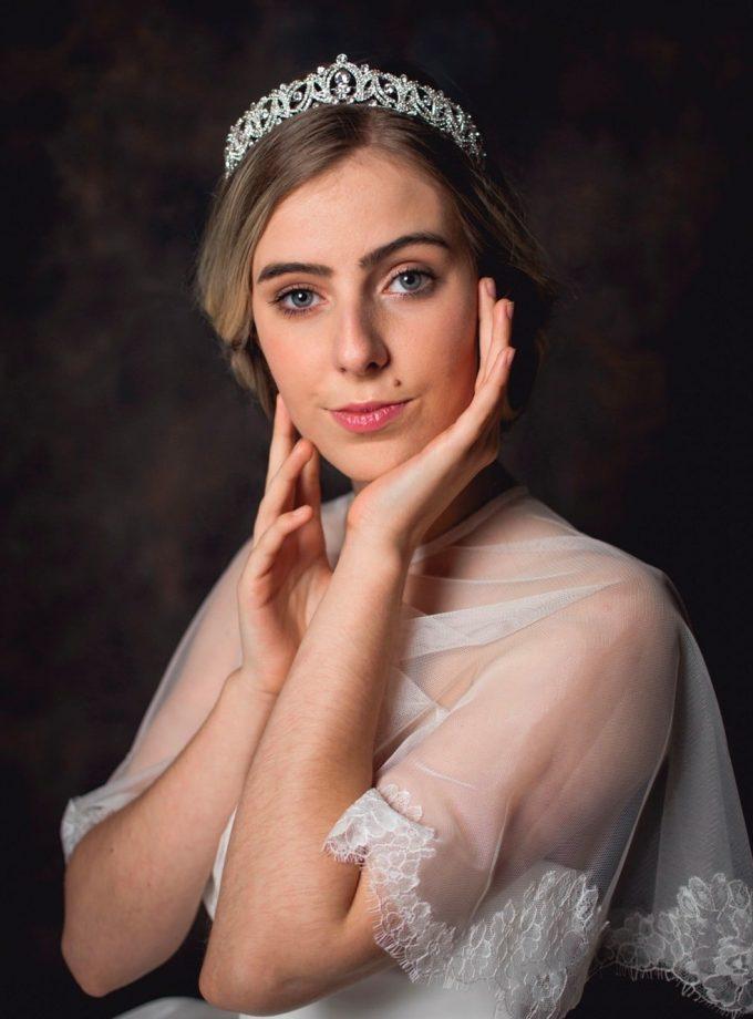 Princess Katherine tiara on bride TLT4563