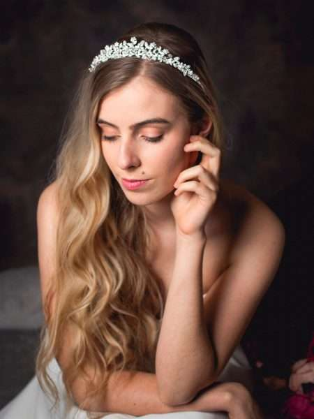 Rosalind – classic bridal tiara with crystals & pearls