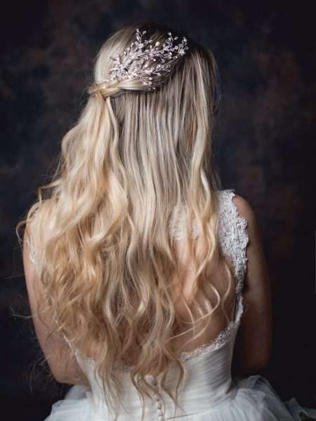 Stardust – crystal, pearl & diamante bridal vine headpiece