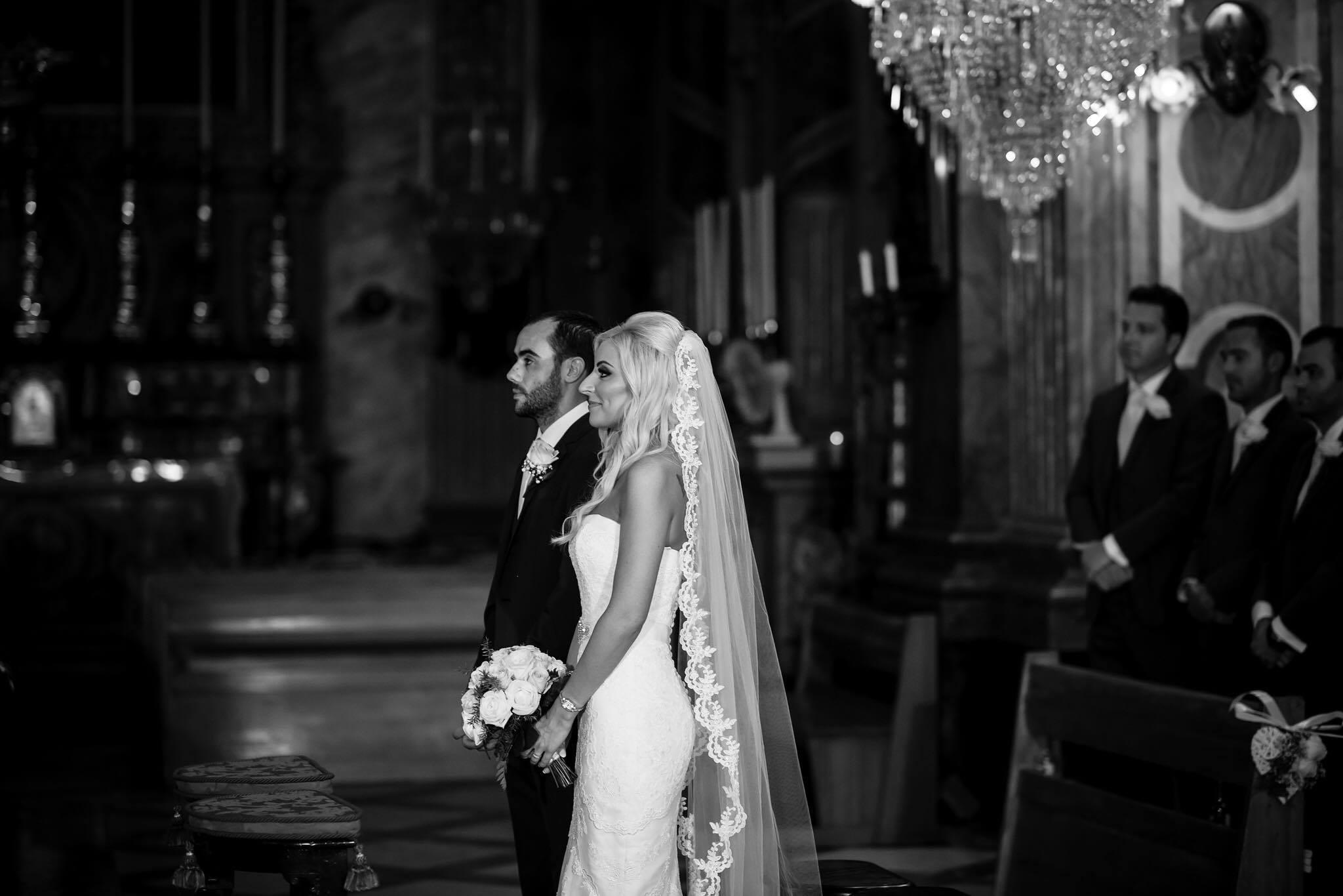 Marelda chapel length lace veil