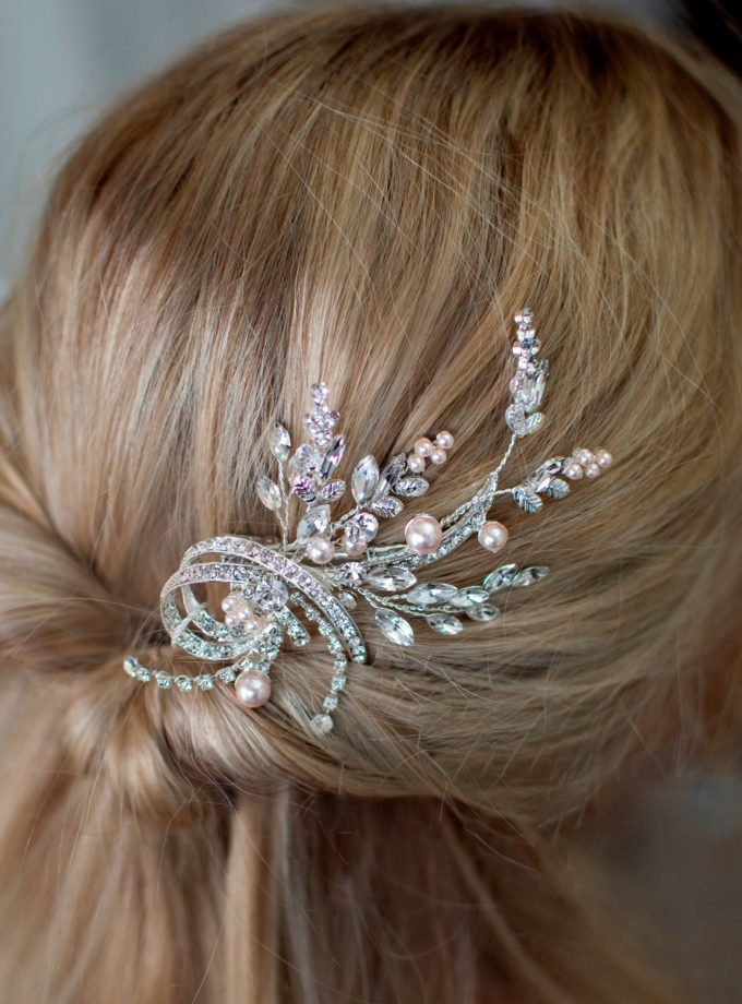 LP740 pearl and diamante bridal hair accessory