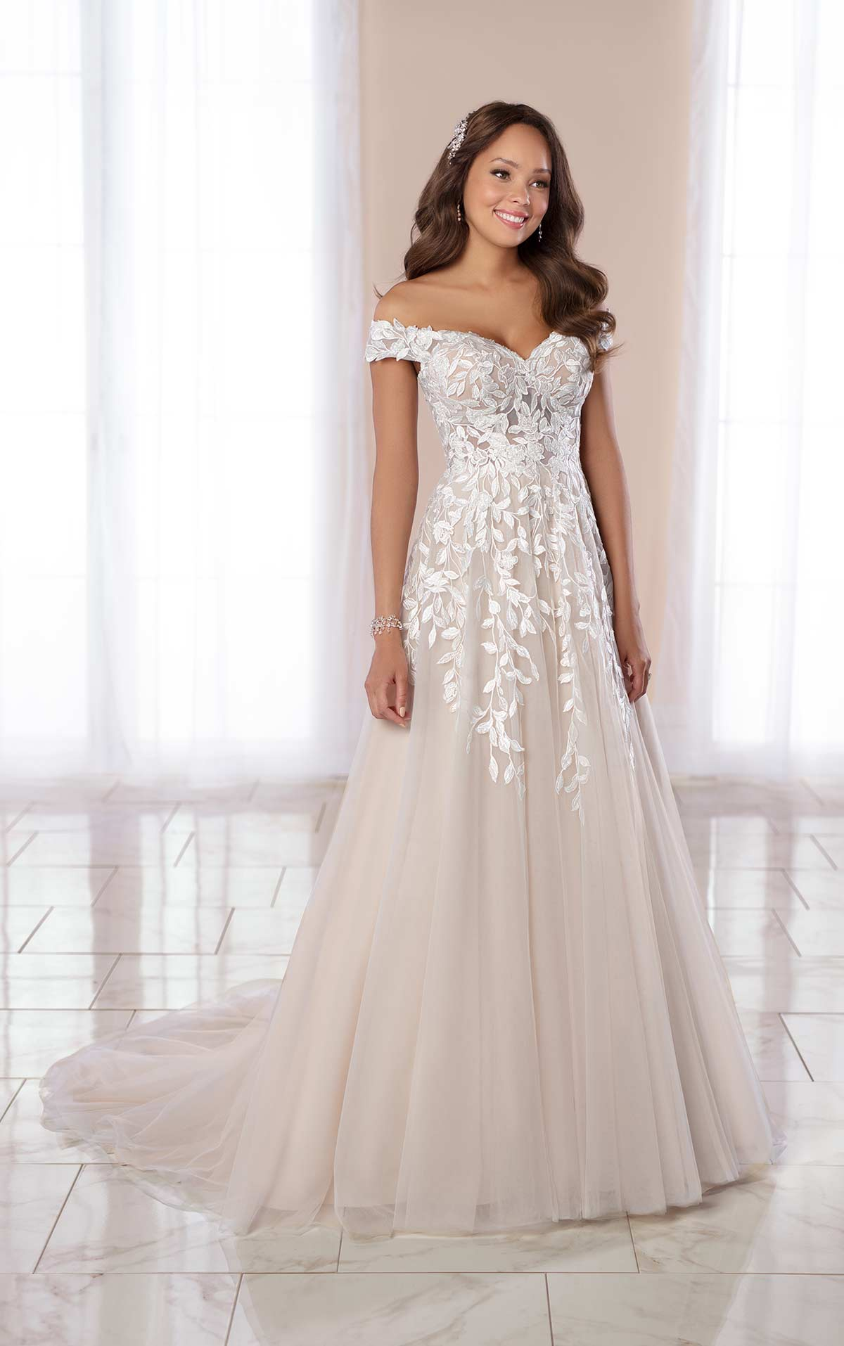 two colour wedding dress example