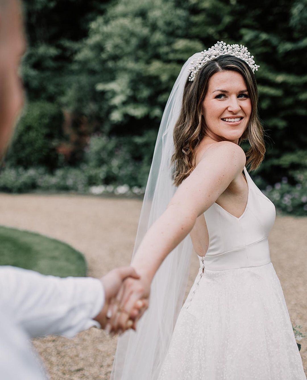 Everlasting wedding headpiece and Skye veil 1
